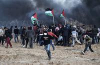مواجهات بين الشبان وقوات الاحتلال على الحدود الشرقية لخان يونس
