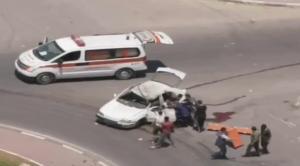 اغتيال قيادي بالجهاد الاسلامي و4 شهداء بقصف مركبة (صور)