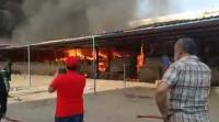 حريق بمحلات ملابس في الزرقاء (صور وفيديو)