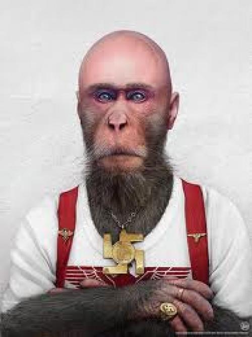 بالفيديو .. الرجل القرد