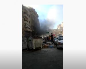 حريق كبير بمخبز شهير في عمان (فيديو)