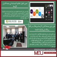 جامعة الشرق الأوسط تتأهل للنهائيات العالمية في مسابقة الحلول المستدامة