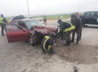 13 اصابة بحادثي تصادم في مادبا والكرك