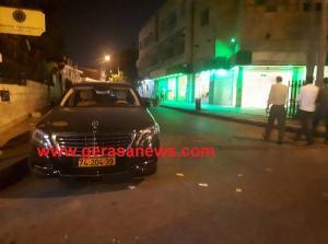 """مركبة """"اسرائيلية"""" وسط عمان  ..  (صور)"""