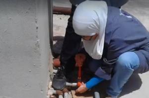 اربد : أردنيات وسوريات يتحدين المجتمع ويعملن بالسباكة