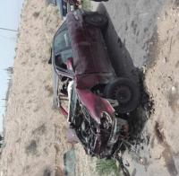 6 إصابات بحادث على الطريق الصحراوي (صور)