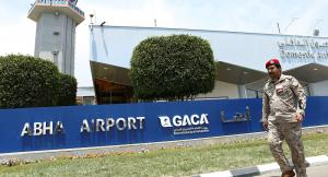 استهداف مطار أبها مجددا بطائرات الحوثيين
