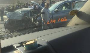 وفاة شاب وإصابة 5 مواطنين في حادث سير في واد النار
