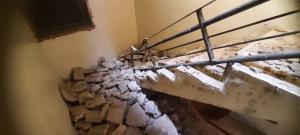 انهيار جزء من بناية سكنية بضاحية الأمير حسن