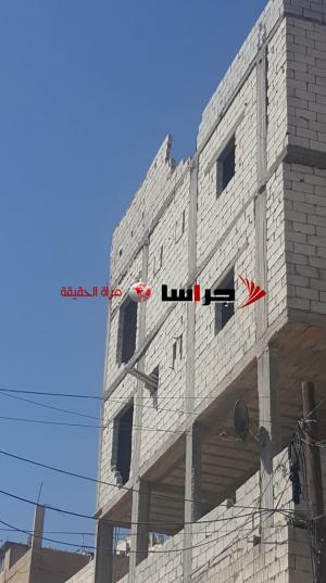 الريالات : بناية ايلة للانهيار في جبل عمان (صور)