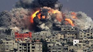 5 اصابات سلسلة غارات عنيفة للاحتلال على غزة (صور)