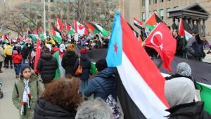 كندا ..  الآلاف يتظاهرون احتجاجًا على قرار ترامب بشأن القدس