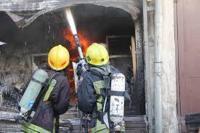 3 اصابات بحريق داخل شقة في المقابلين