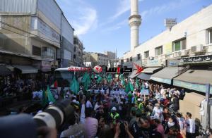 مسيرة في وسط البلد تضامنا مع فلسطين (صور)