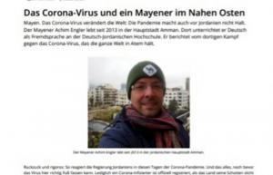صحيفة ألمانية: الأردن الآن الأرض الأكثر أمانًا من كورونا
