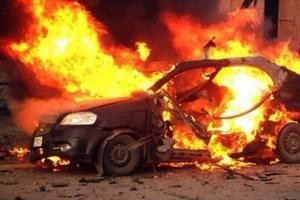 اندلاع حريق بمركبة في عمان
