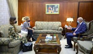 رئيس مجلس الاعيان يلتقي السفيرة السويدية والسفير الهنجاري