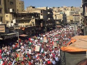 مسيرة الكرك: 'لن نسمح بتسليم الاردن للإحتلال'