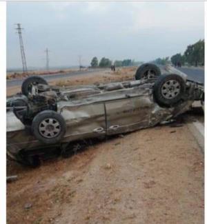 وفاة اردني بتدهور مركبته في سوريا (صور)
