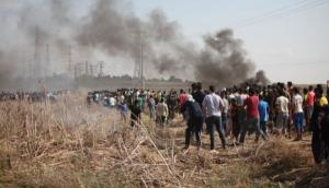 8 اصابات بمواجهات مع الاحتلال على حدود غزة