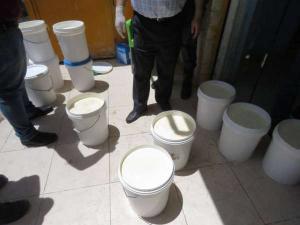 جرش: ضبط مصنع يعيد تصنيع اللبنة باستخدام مواد مسرطنة