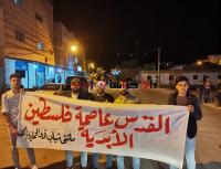 مسيرة ليلية في فقوع تضامنا مع فلسطين (صور)