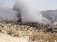 حريق 90 دونما في جرش