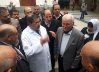 """وزير التعليم العالي يزور الطلبة مصابي حادث حافلة """"الهاشمية"""" - صور"""