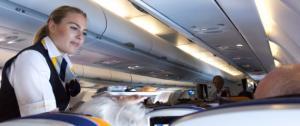 مضيفة طيران تسقط من الطائرة إلى الأرض! (فيديو)