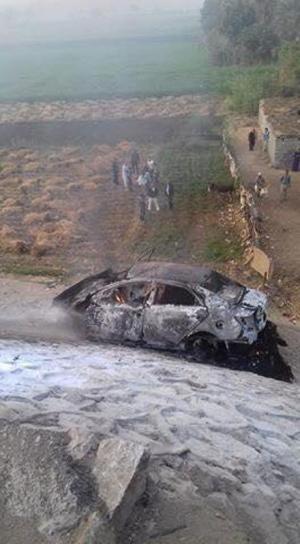اصابة  أردنيين باحتراق مركبتهما في مصر