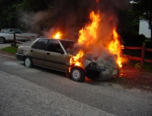 """حرق """" بك أب """"على طريق اربد والأمن يحقق"""