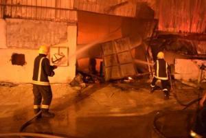 """وفاة 10 اشخاص بحريق  """"منجرة"""" في الرياض"""