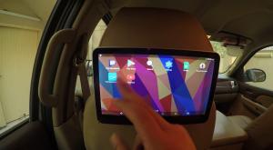 ضبط سائق وضع شاشة تلفزيونية في مركبته