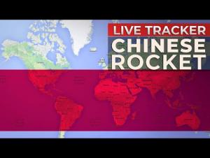 فيديو يظهر سقوط حطام الصاروخ الصيني