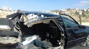 اصابتان بانشطار مركبة في شارع الاردن