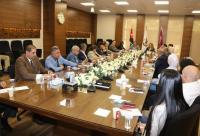 وكالات الانباء والقنوات العربية والاجنبية على طاولة الحوار في جامعة الشرق الاوسط