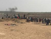 """اصابات برصاص الاحتلال بجمعة """"غزة تنتفض والضفة تلتحم"""""""