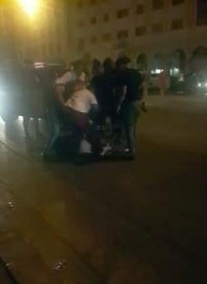اصابة رجلي امن بعيار ناري في الجاردنز (فيديو)