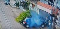 نجاة راكب درّاجة بأعجوبة من موت محقق ! (فيديو)