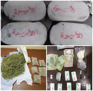 القبض على 24 مروجاً للمخدرات بسلسلة مداهمات (صور)