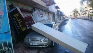 انهيارات طرق وجدران وتضرر منازل ومركبات جراء امطار الجمعة (صور)