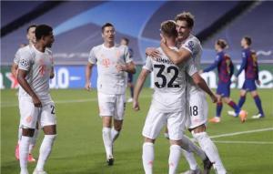 بايرن ميونخ ينتصر على برشلونة بثمانية أهداف