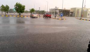 """مياه الأمطار تغلق نفق بلدة """"هام"""" في اربد"""