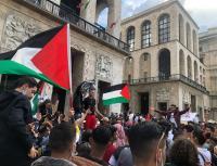 مظاهرات شعبية في ميلانو ايطاليا تضامنا مع غزة والقدس