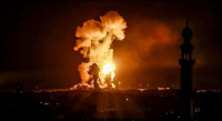 اطلاق صواريخ على مستوطنات قرب غزة ..  والاحتلال يفتح الملاجئ