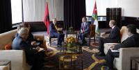 الملك يلتقي الرئيس الألباني
