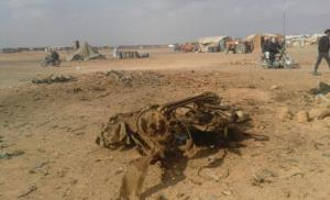 5 قتلى و 30 جريح بانفجار سيارة في مخيم الركبان الحدودي  .. (صور)