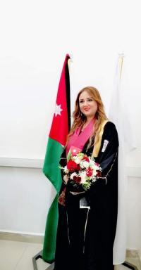 الدكتوره ليندا العدوان تهنئ الدكتوره إيناس الساحلي