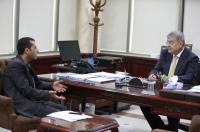 مقابلة صحفية مع المدير العام للبنك الأهلي الأردني