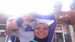 """سيلفي """"اسرائيلي"""" مع لاعبة مصر  .. !!"""